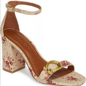 New Coach maya floral print sandal size 7.5